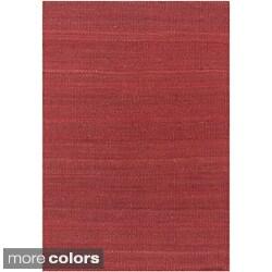 Hand-woven Mandara Natural Rug (7'9 x 10'6)