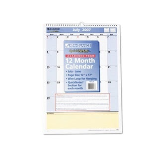 2013-2014 QuickNotes Recycled Monthly Academic Wall Calendar (12 x 17)