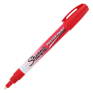 Sharpie Red Scrapbooking Poster Paint Markers (Pack of 12)