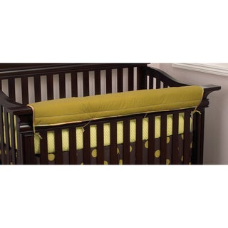 Cotton Tale Elephant Brigade Crib Rail Front Cover Up