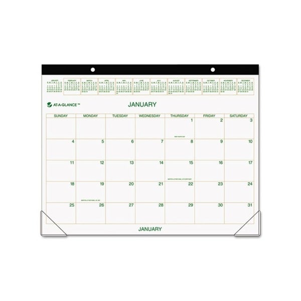 2015 Recycled Two-color Desk Pad Calendar (22 x 17)