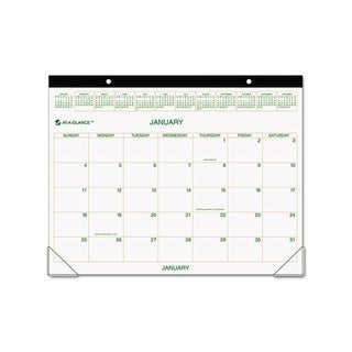 2013 Recycled Two-Color Desk Pad Calendar (22 x 17)
