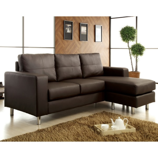 Furniture of America Jenick Contemporary Sectional with Ottoman Conversion