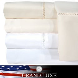 Grand Luxe Bellisimo Egyptian Cotton Sateen Deep Pocket 1200 Thread Count Sheet Set