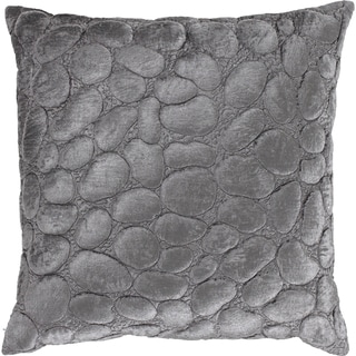 Arianna Silver Textured 18-inch Decorative Down Pillow