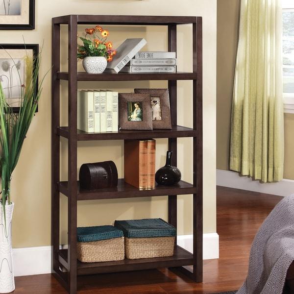 Furniture of America Regibel Solid Wood 5-tier Display Bookcase