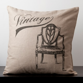 Grace Doe Skin Vintage Chair Novelty 18-inch Decorative Down Pillow