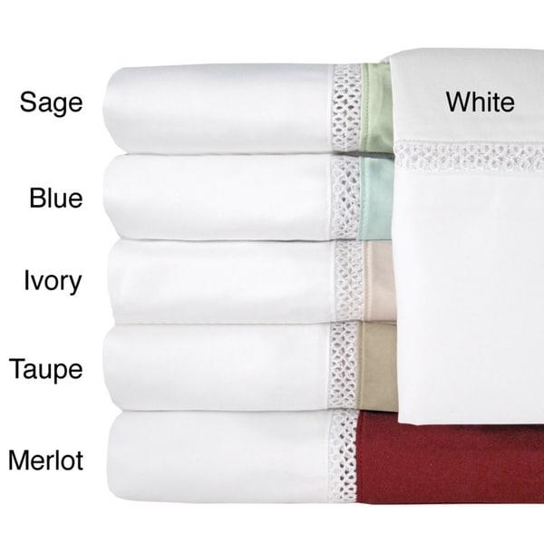 Grand Luxe Duetta Egyptian Cotton Sateen Deep Pocket 500 Thread Count Sheet Set