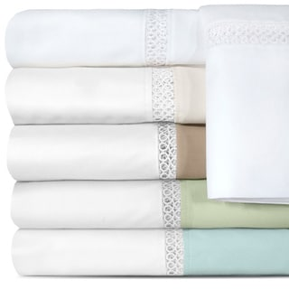 Grand Luxe Duetta Egyptian Cotton Sateen Deep Pocket 500 Thread Count Sheet Set
