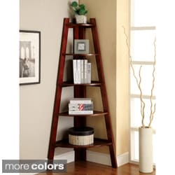 Kiki 5-tier Corner Ladder Display Bookcase