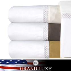 Grand Luxe Duetta Egyptian Cotton Sateen Deep Pocket 800 Thread Count Sheet Set