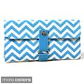 Chevron Makeup Brush Roll (Set of 6 Brushes)