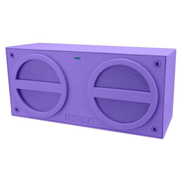 iHome iBN24 Speaker System - Wireless Speaker(s) - Purple