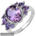 Sterling Silver Amethyst, Blue Topaz or Multi-gemstone Ring
