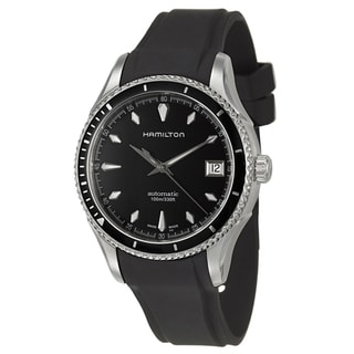 Hamilton Women's 'Jazzmaster' Black Dial Swiss Automatic Watch