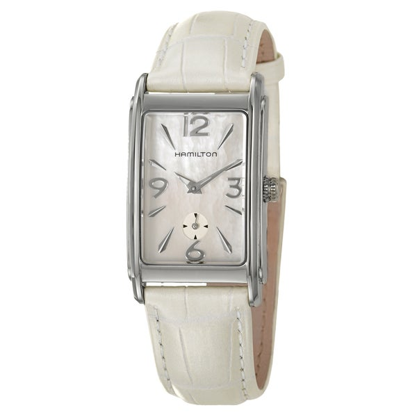 Hamilton Women's 'Ardmore' Mother of Pearl Dial Leather Strap Watch