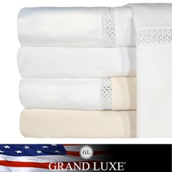 Grand Luxe Duetta Egyptian Cotton Sateen Deep Pocket 1200 Thread Count Sheet Set