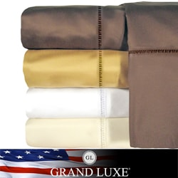 Grand Luxe Linford Egyptian Cotton Sateen Deep Pocket 800 Thread Count Sheet Set