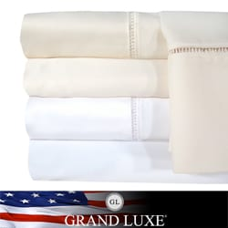 Grand Luxe Linford Egyptian Cotton Sateen Deep Pocket 1200 Thread Count Sheet Set