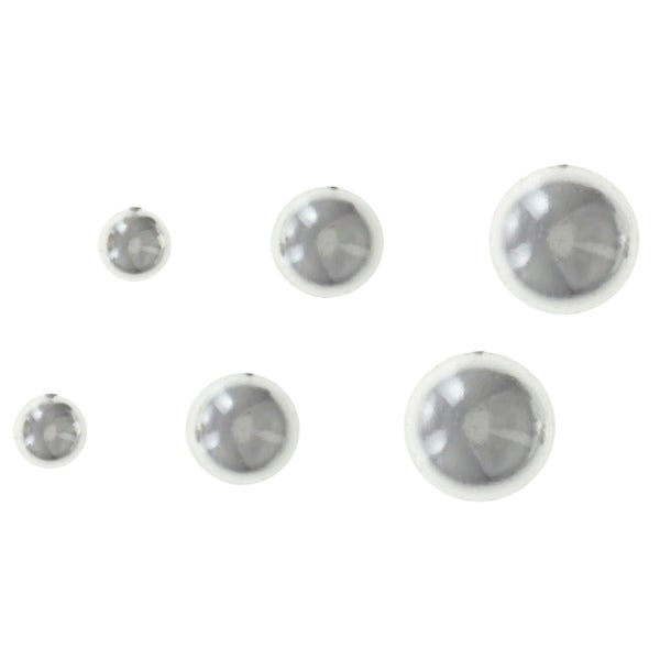 Sunstone Sterling Silver Highly Polished Ball Earring Trio Set