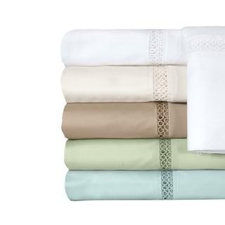 Grand Luxe Payton Egyptian Cotton Sateen Deep Pocket 300 Thread Count Sheet Set