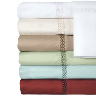 Grand Luxe Payton Egyptian Cotton Sateen Deep Pocket 500 Thread Count Sheet Set