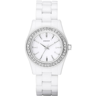 DKNY Women's NY8145 'Chambers' Crystal White Watch