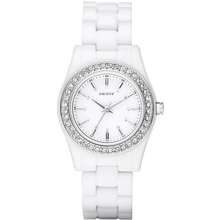 DKNY Women's White Plastic White Dial Quartz Watch