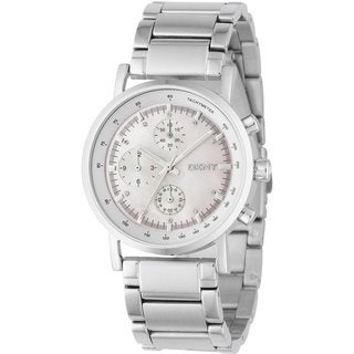 DKNY Women's Mother of Pearl Dial Stainless Steel Watch