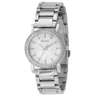 DKNY Women's Silver Stainless Steel Mother of Pearl Dial Quartz Watch