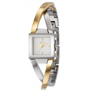DKNY Women's Two-tone Stainless Steel White Dial Quartz Watch