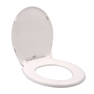 Rise and Shine Round Closed Front Toilet Seat in White