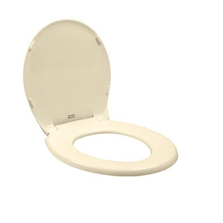 Rise and Shine Round Closed Front Toilet Seat in Bone