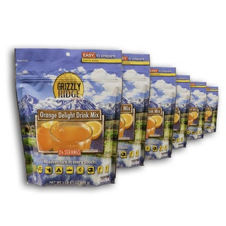Grizzly Ridge Orange Delight Drink Mix 6 Pack