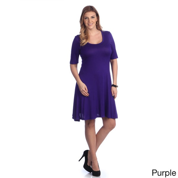 24/7 Comfort Apparel Women's Elbow-sleeve Dress