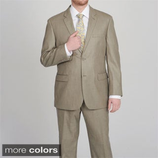 Caravelli Men's Shark Pattern 2-button Suit