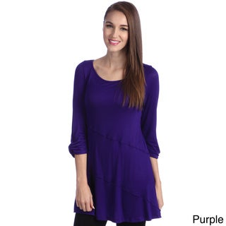24/7 Comfort Apparel Women's Elbow Sleeve Tunic Top