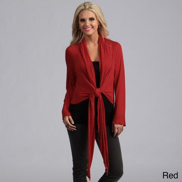 24/7 Comfort Apparel Women's Tie-front Shrug