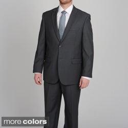 Caravelli Men's Two-button Tonal Stripe Suit with Four Interior Pockets