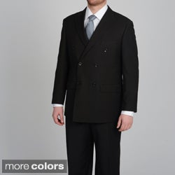 Caravelli Men's Double Breasted Pinstripe Suit