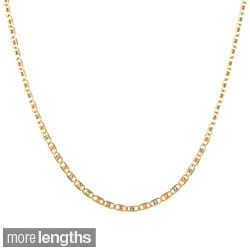 Sterling Essentials 14k Gold Italian Tri-colored Mariner Chain Necklace
