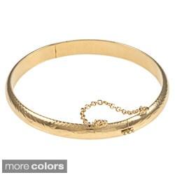 Sterling Essentials Silver 7-inch Hand-engraved Bangle Bracelet