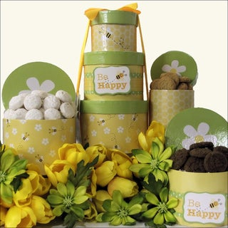 Be Happy Gourmet Easter Cookie Gift Tower