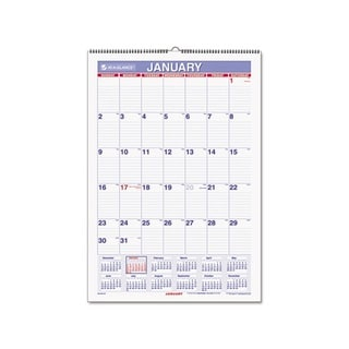 At-A-Glance 2013 Recycled Monthly Erasable Wall Calendar (15.5 x 22.75)