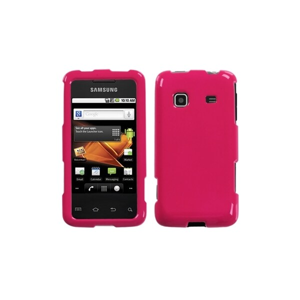 INSTEN Solid Lightning Red Case Cover for Samsung Galaxy Prevail M820