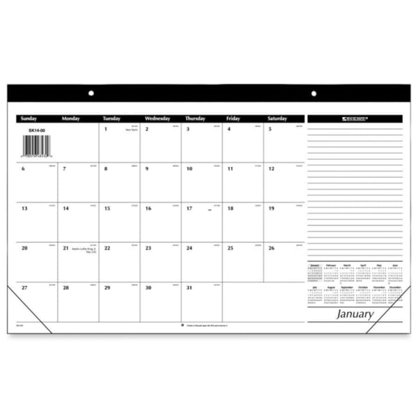 At-A-Glance 2015 Recycled Compact Desk Pad (17.75 x 10.6)