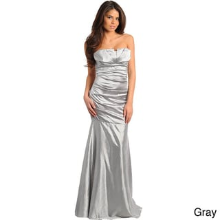 Stanzino Women's Strapless Drop-waist Evening Gown