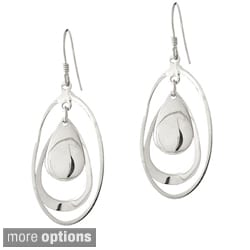 Mondevio Sterling Silver Teardrop and Oval Dangle Earrings