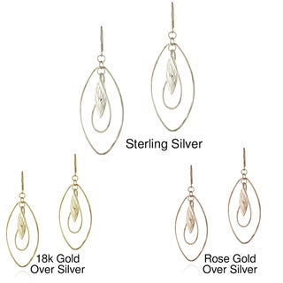 Mondevio Sterling Silver Twist Dangle Earrings