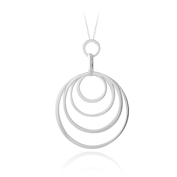 Mondevio Sterling Silver Graduating Circle Necklace